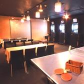 ■卓球■8名以上で卓球個室としてご利用頂けます。卓球はオープン席もあります。