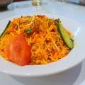 料理メニュー写真チキンのビリヤニ―インド風焼き飯(2名分)