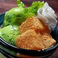 料理メニュー写真わらび餅と抹茶アイス/シューアイス