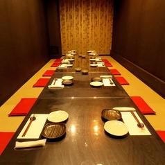 座敷席を増席!広々使えるお座敷席。15名~20名様迄貸し切りも可能♪貸切の場合は個室になります!通常の場合は3テーブルに分けて使用可能