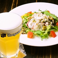 ◆自慢のベルギービールとワインとの相性抜群の料理◆