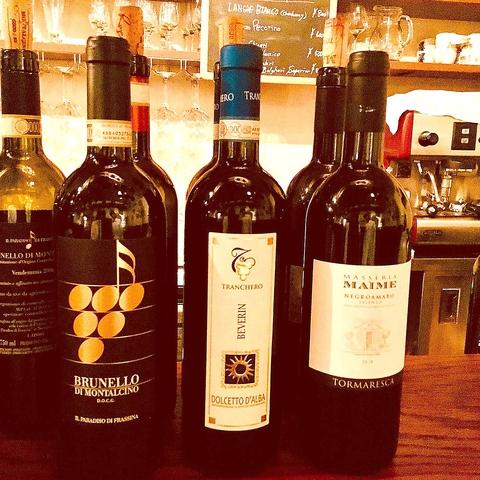本格ワインをグラスで楽しめる!!ご友人やご夫婦、デートなどでもお楽しみいただけるワインをグラスで飲めるので、ワインの飲み比べをしてみてはいかがでしょうか。日・月曜日は比較的スムーズにご来店いただけるのでオススメです!!