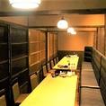 【貸切情報】30名様~最大40名様までご利用可能。通常全席個室の2Fフロアの仕切りを全て取り外し、広々としたフロアでご宴会をお楽しみいただけます。
