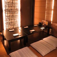 1階のお座敷は間仕切りでプライベート空間を確保♪少人数の宴会や接待にも最適な半個室です。