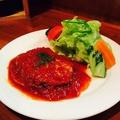 料理メニュー写真自家製イタリアハンバーグ