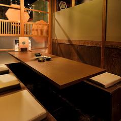 モダン調の店内はデートのお食事にもおすすめ。個室なので周りも気にせず、お食事とお話をお楽しみいただけます。
