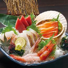 料理メニュー写真本日の直送鮮魚入り御造里五種盛り合せ