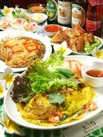 千葉県内でも珍しいアジアン料理を多数ご用意♪