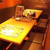 可動式のテーブルなので、人数に合わせてご案内致します!