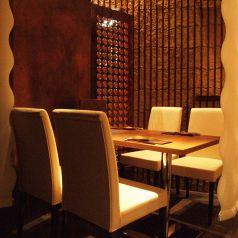 会食にピッタリなテーブル席個室