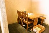 半個室風のテーブル席!女子会も盛り上がります♪
