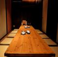 グループや部署での飲み会に最適な、10名様用の個室をご用意致しました。ご友人とのお集りにもおすすめです。