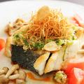 料理メニュー写真すずきのステーキ小松菜ソース
