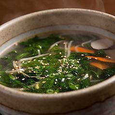 わかめスープ/野菜スープ
