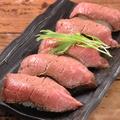 料理メニュー写真ローストビーフの肉寿司