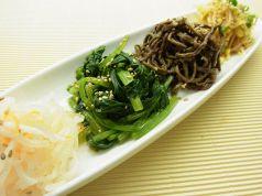料理メニュー写真キムチ/ナムル/韓国のり