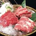 誰もが知っている黒毛和牛!柔らかくジューシーなお肉が味わえます。
