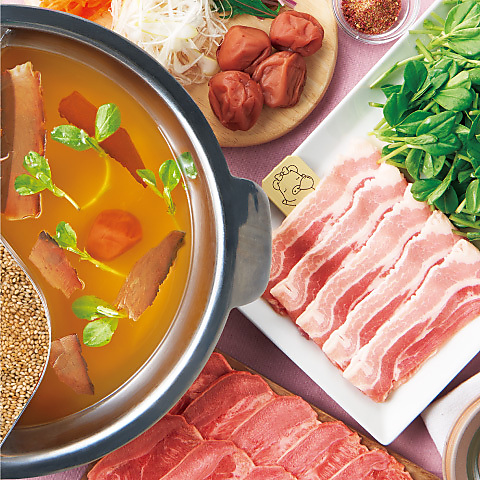 ≪しゃぶしゃぶ≫極み梅だしのたんしゃぶ 肉ノ寿司食べ放題コース 3680円(税抜)