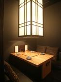 離れの個室は4名様用×3卓、席料は1テーブル別途1000円です。