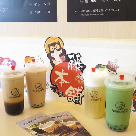 濃厚牛乳に沖縄黒糖、素材にこだわったタピオカミルクティーをお楽しみ下さい。