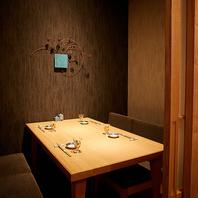 接待にも重宝するテーブル席完全個室