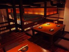 中二階のお座敷は最大18名様 人数様に合わせてお席ご用意できます。