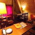 【3階屋根裏部屋】隠れ家的空間。リラックスしてお食事をお愉しみ頂けます。女子会・合コン・各種宴会に◎