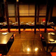 テーブルの間隔の広くとっているので、お隣を気にせずにお寛ぎいただけます。また、3階席はフロア貸切が可能★最大80名様までご利用頂けます!各種ご宴会に◎