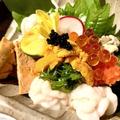 料理メニュー写真冬の痛風盛り~牡蠣・白子・あん肝・うに・いくら~