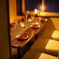シックで大人の雰囲気醸し出すオシャレな空間です♪ゆったりとお食事と美味しいお酒を味わえる大人数のお客様には最適!宴会コースは様々な種類がございますので、ご予算やシーンに合わせてご提供致しております♪ぜひ、ご相談ください。