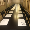 2階テーブル席は貸切も承ります。人数にあわせてご用意。最大36名様迄。