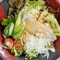 料理メニュー写真炙りチャーシューの胡麻味噌サラダ