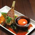 料理メニュー写真月見 糸島産の卵で