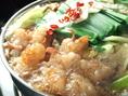 【しょうゆもつ鍋】九州直送の天然もろみ醤油を使用した、さっぱり醤油味