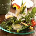 料理メニュー写真たっぷりお野菜の絶品バーニャカウダ