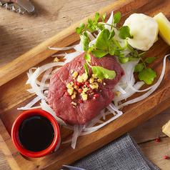 料理メニュー写真新鮮馬肉の生ステーキ