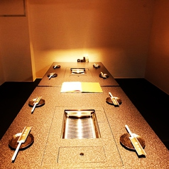 高級感あふれる個室。MAX10名入ることができます