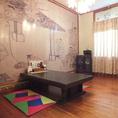 【2階お座敷個室】足を伸ばせる座敷席は個室も。お子様連れでのご利用にもピッタリです。