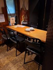半個室あり♪6名掛けテーブル。