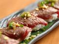 料理メニュー写真【晴特製】黒毛和牛の炙り寿司