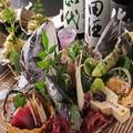 料理メニュー写真自慢のお造り盛合せ 「有東木産本わさび」使用