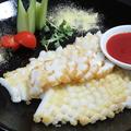 料理メニュー写真イカの花形切揚げ