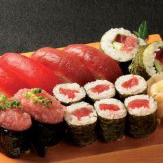 料理メニュー写真マグロ尽くし寿司盛り