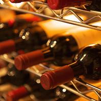 数十種類の品揃え♪充実の本格ワイン☆