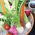 料理メニュー写真農家さんの愛情 おけ盛り生野菜 【4種のこだわり味噌で】