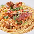 料理メニュー写真ワタリガニのスパゲッティ