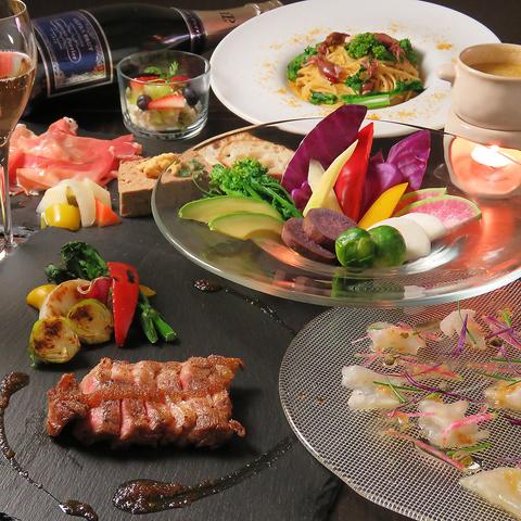 【宴会やお祝いに】〜贅沢コース〜お料理7品+飲み放題90分 7,000円(税込)