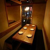 隠れ家個室空間で創作料理!2名様から30名様まで貸切も◎