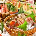 直送鮮魚を素材に合わせた調理法でご提供!!