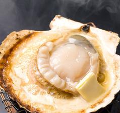 料理メニュー写真活ホタテのバター焼き【道産】
